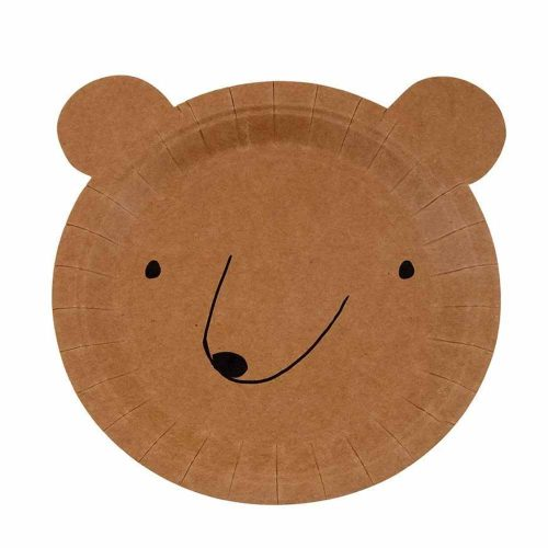 bear head paper plate