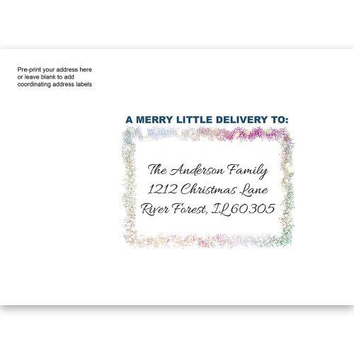 glitter holiday printed envelope