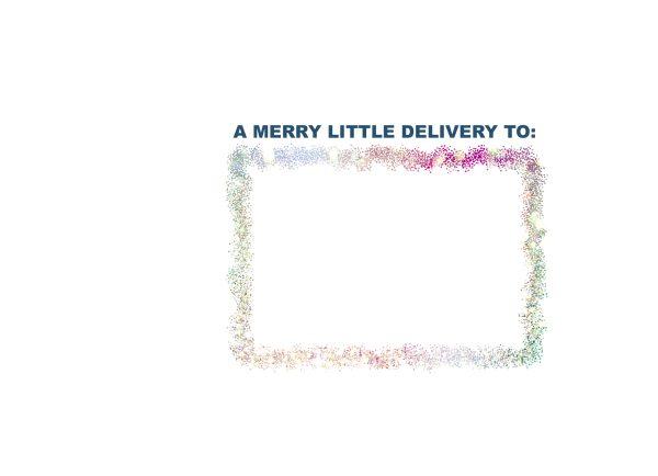 bright holiday printed envelope