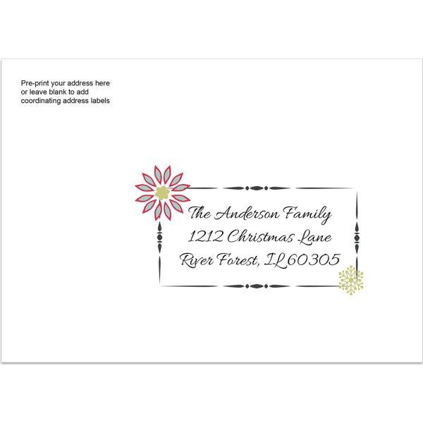 holiday printed envelope