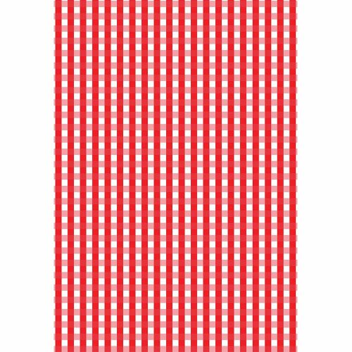 red gingham boutique gift wrap