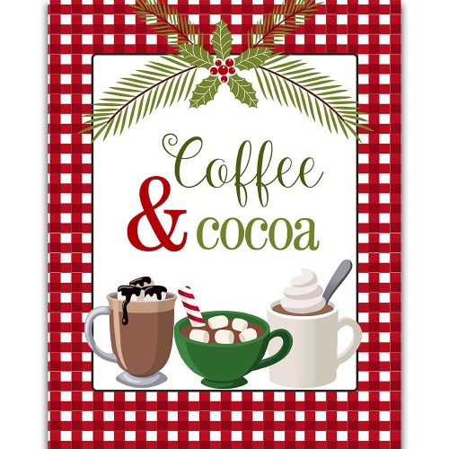 italian christmas cocoa and coffee
