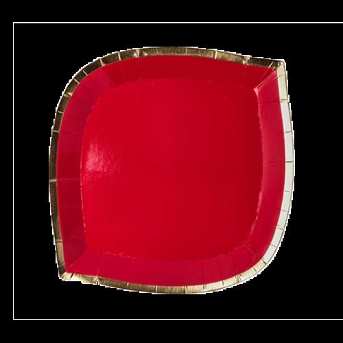 posh die cut plate red