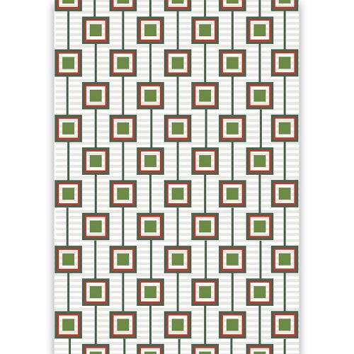 mid century modern squares gift wrap