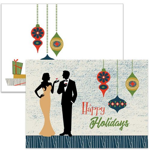 swanky ornament holiday card