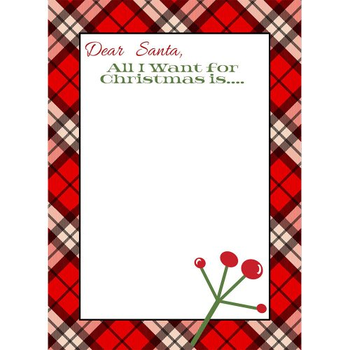 dear santa printable list