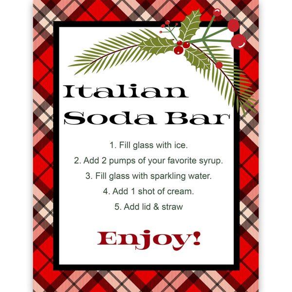 italian soda bar sign
