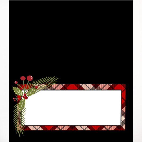 christmas plaid place card